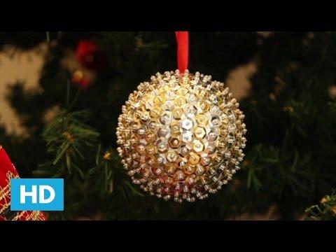 Como fazer Bola de Natal com Paetês