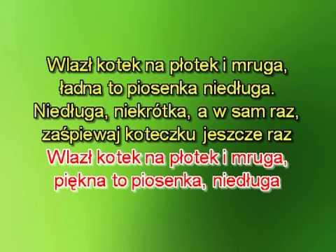 Karaoke Wlazł Kotek Na Płotek - Wersja 2 Wolniejsza - Z L M. ( Www.letsing.pl )