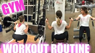Gym Workout Routine Machines Weights and etc