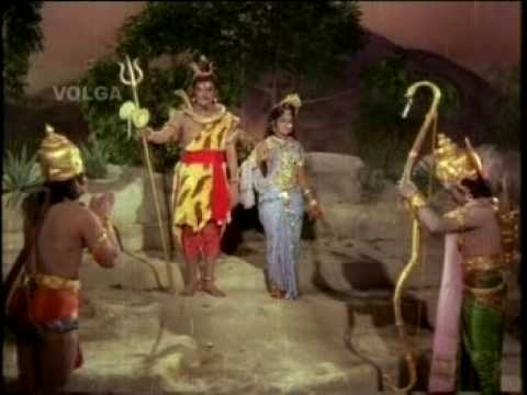SRI RAMA WAR WITH ANJANEYA SCENE  FROM NTR SRI RAMANJANEYA YUDHAM...