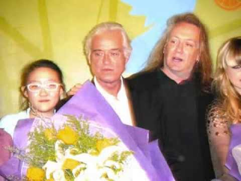 Show of Peace Concert PRESS CONFERENCE JIMMY PAGE Orianthi Panagaris BEIJING RITZ CARLTON