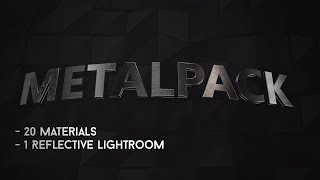 MetalPack | Materials + Lightroom [ONLY 5€ not 10 ANYMORE]