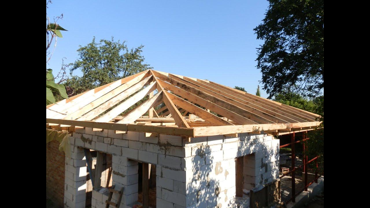 Сделать крышу четырехскатную на доме своими руками