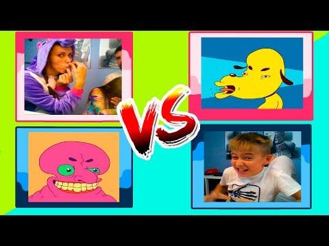 Emoji Challenge Девочки против мальчиков Родители и дети сами устроили Челлендж // Мы играем