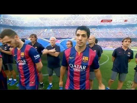 Luis Suárez Debut Match vs Club Leon [18.08.2014] HD (,,)