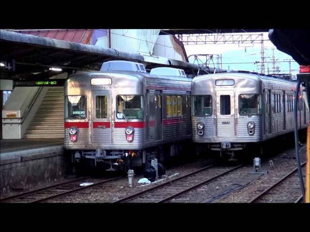 長野電鉄須坂駅構内、新人研修風景。(指差し確認よし! 警笛有り)