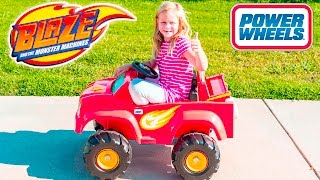 Assistant Drives Blaze and the Monster Machines Power Wheels Ride On