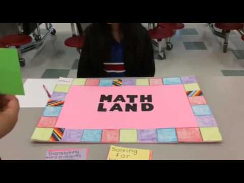 math project of math game called math land