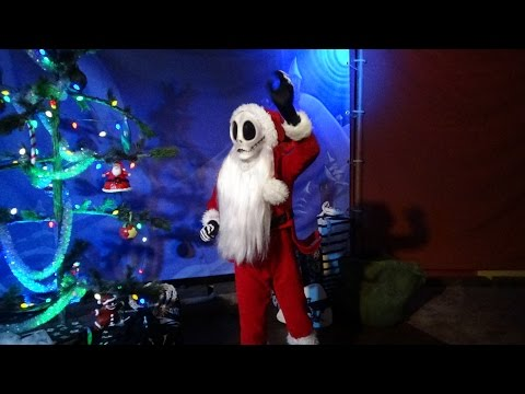 Jack Skellington as Sandy Claws Charater Meet & Greet Walt Disney World