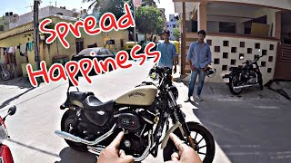 RIDING MY SUBSCRIBER'S HARLEY 883