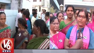 Suryapet TRS Candidate Jagadish Reddy Wife Sunita Reddy Face To Face Over Election Campaign