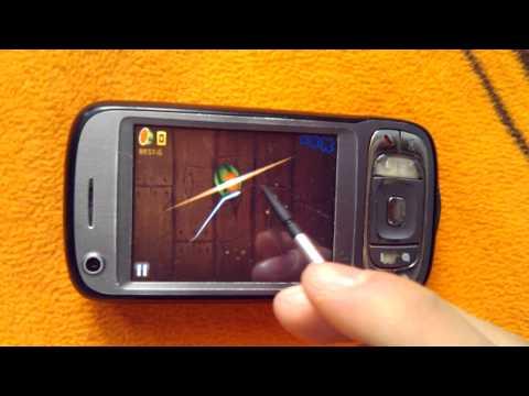 Fruit Ninja running on HTC TyTN II (Kaiser)