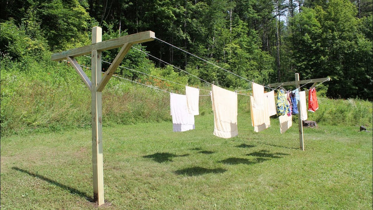 how to make build a clothesline by jon peters youtube. Black Bedroom Furniture Sets. Home Design Ideas