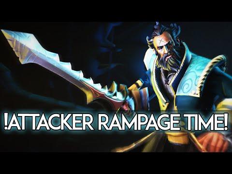 !Attacker Kunkka Rampage Time Dota 2