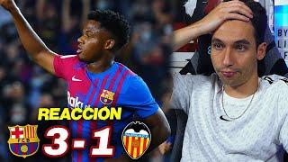 REACCIONANDO al Barcelona vs Valencia 3-1 *PENALTI POLÉMICO A ANSU FATI*
