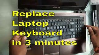 HOW TO REPLACE LAPTOP KEYBOARD | ASUS LAPTOP KEYBOARD REPLACEMENT GUIDE | GEEKY ABHINAV