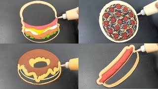 Fast Food Pancake Art - Burger, Pizza, Donut, Hot Dog