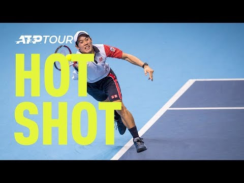 Watch Hot Shot as Kei Nishikori uses Andy Murray for target practice during their Barclays ATP World Tour Finals clash on Sunday. Watch live matches at http:...