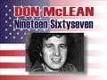 Don McLean de 1967 [video]