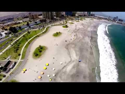 Playa Cavancha, Iquique. Vista aerea por drone - Domingo 02 Noviembre 2014 - Glaseado.cl