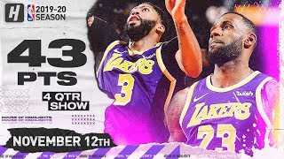LeBron James & Anthony Davis BEAST MODE Highlights vs Suns (2019.11.12) - 43 Points Combined