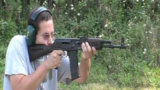 Saiga 223 rifle shooting