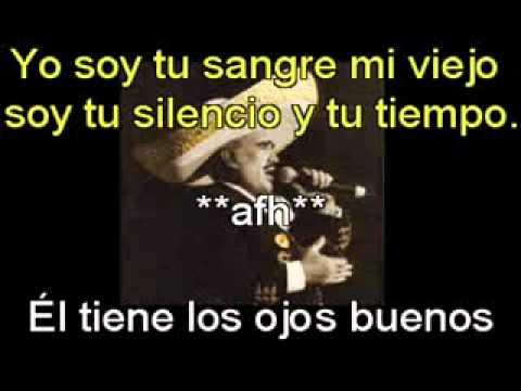 Viejo Querido Viejo Karaoque Vicente Fernandez.mpg video