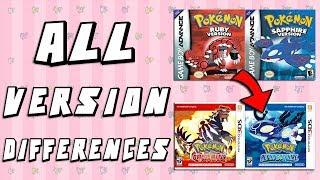 Pokemon Version Differences: Ruby & Sapphire vs Omega Ruby & Alpha Sapphire