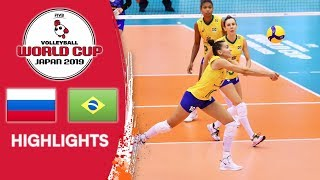 RUSSIA vs. BRAZIL - Highlights | Women's Volleyball World Cup 2019