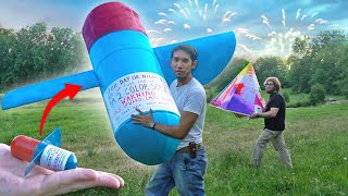 Making GIANT helicopter style FIREWORKS