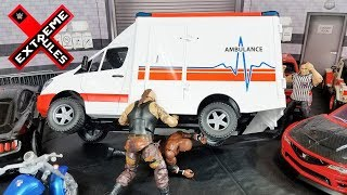 BRAUN STROWMAN VS BOBBY LASHLEY LAST MAN STANDING ACTION FIGURE MATCH