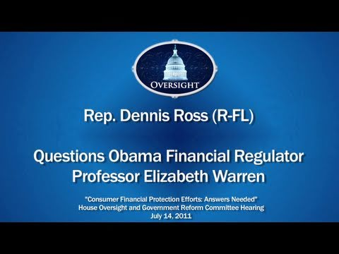 Ross Questions Obama Financial Regulator, Professor Elizabeth Warren
