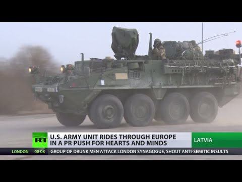 'Tanks? No thanks!' US military convoy's Euro tour raises feathers