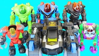 Imaginext Robot Wars with Batman Robin Green Lantern Superman Joker Lex Luther DC Superhero Batbot