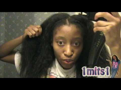 heat training my hair with a blowdryer