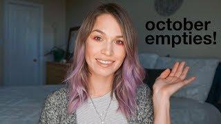 October Beauty Empties | morerebe