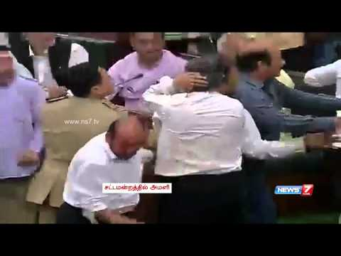 Ugly scenes prevail in Jammu and Kashmir assembly