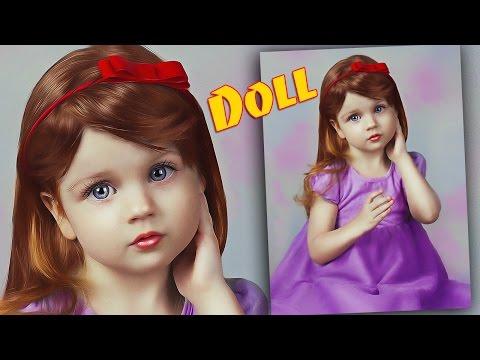 Как сделать в фотошопе кукольный образ