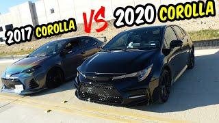 2020 Corolla SE NIghtShade VS 2017 Corolla SE Review