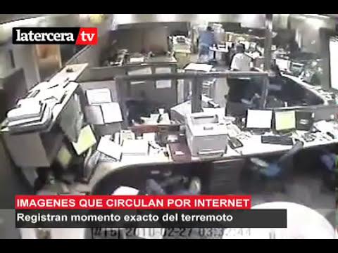Video del Terremoto 8.8 en Chile en una Oficina