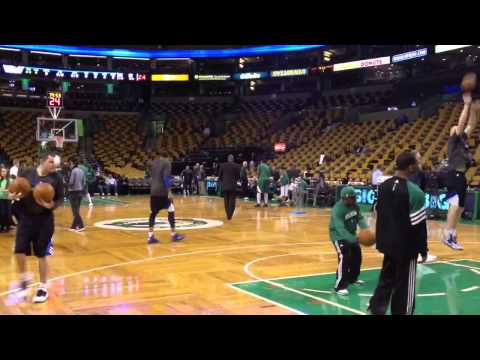 Shawn Marion Mavericks shootaround pregame Celtics