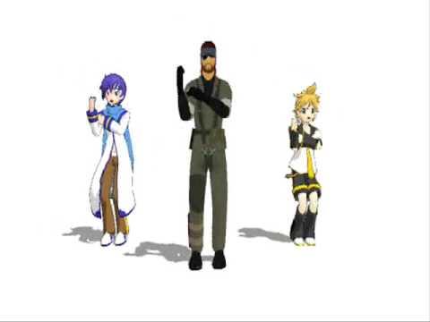 [MMD]Naked Snake, KAITO, Kagamine Len - GO MY WAY
