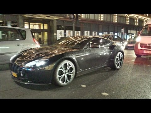 Chelsea footballer Samuel Eto'o Driving his V12 Zagato in London
