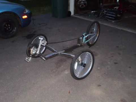 My 1st Home Built TadPole Trike (funny ending) +++ Video 1-ONE