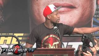 Floyd Mayweather vs. Marcos Maidana press conference video highlights