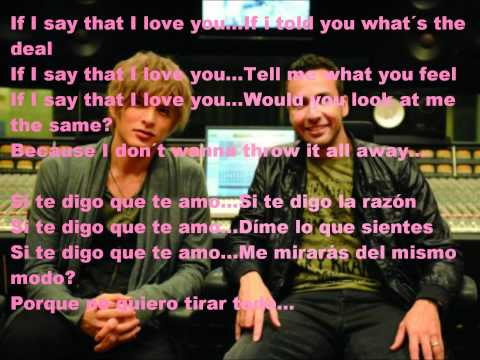 If I say Howie D feat. U Yuu Shirota lyrics english and spanish