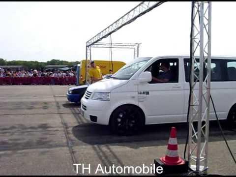 TH2 (VW T5 mit Porsche Motor) gegen VW Polo beim 1/4 Meile Rennen Race@Airport in Werneuchen 2009