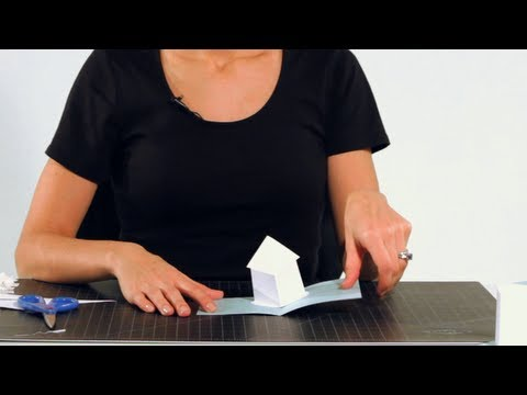 How to make a house pop up card pop up cards youtube for Popup house youtube