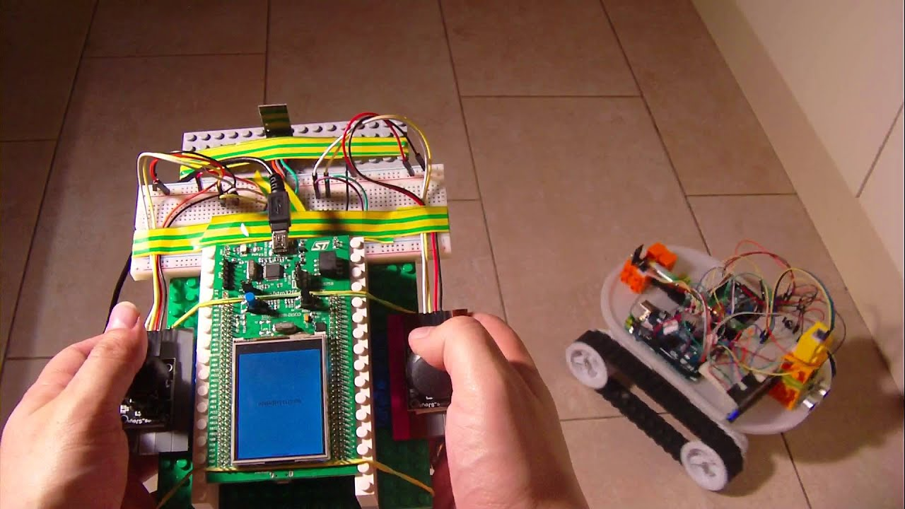 My first robot manual mode hand made pad micro