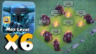 ALL MAX SUPER PEKKA RAID!! | Clash Of Clans | OVERPOWERED!?!